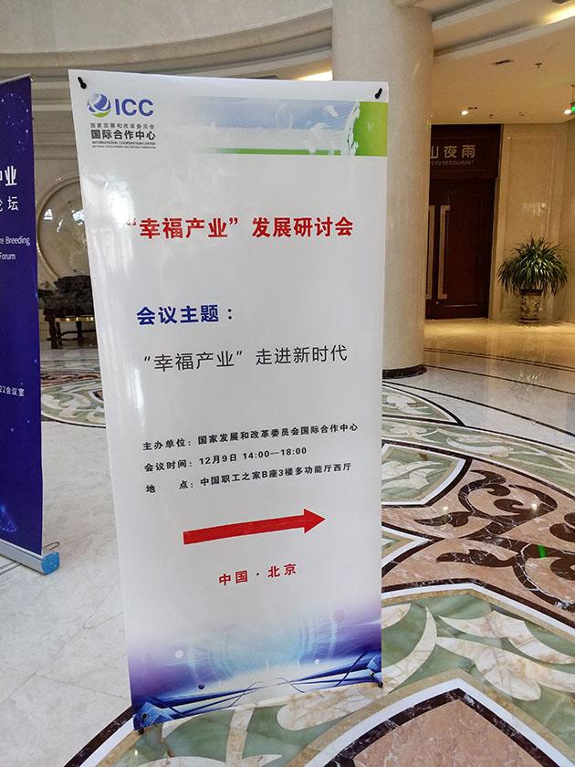 """国家发改委在北京举办的""""幸福产业""""发展研讨会 陈文广会长出席会议并发言"""