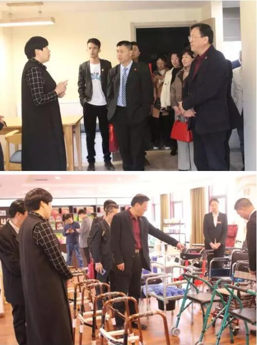 """联席会议广州交流团拜访""""洛阳老龄产业协会""""。"""
